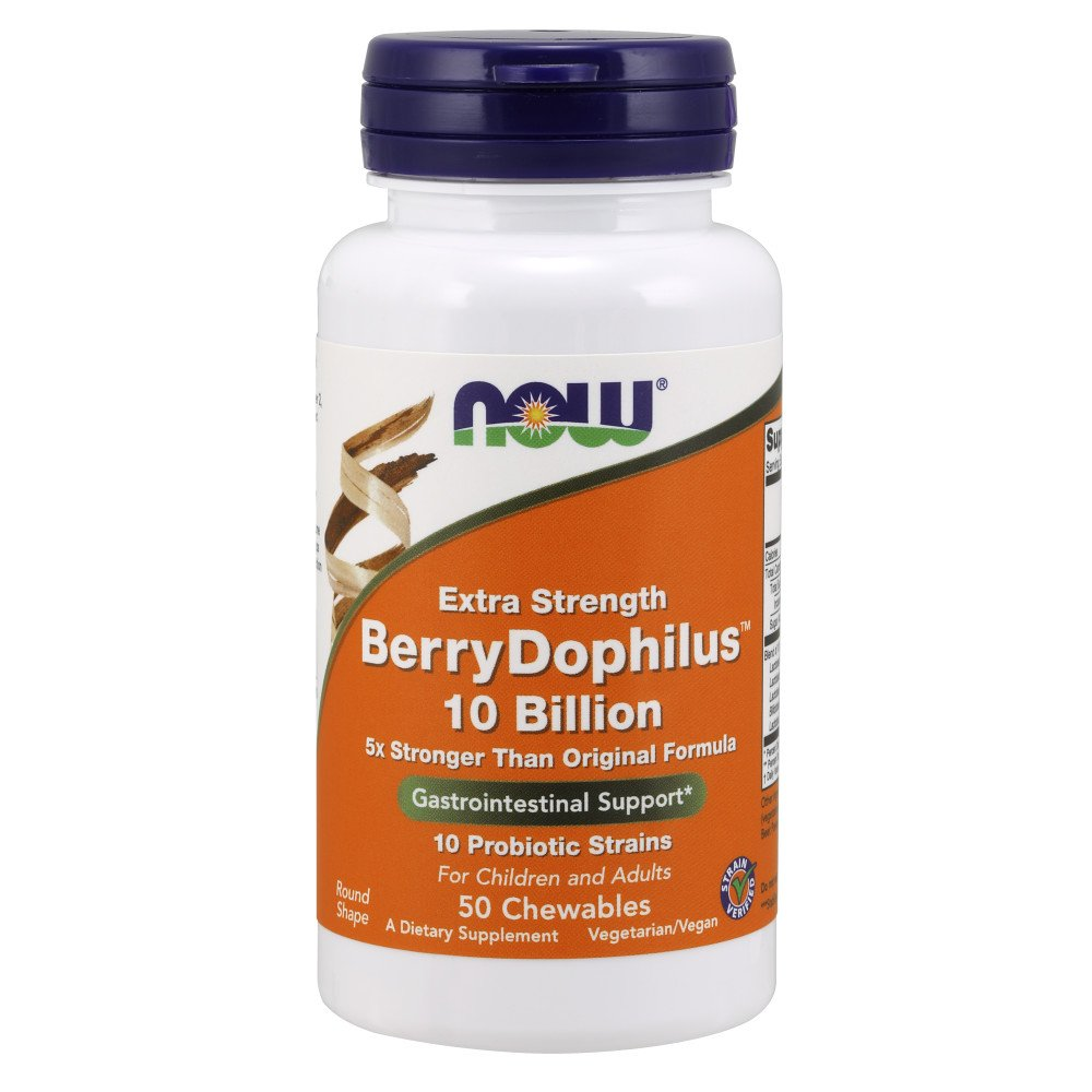 NOW Berry Dophilus Extra Strength 50tabs