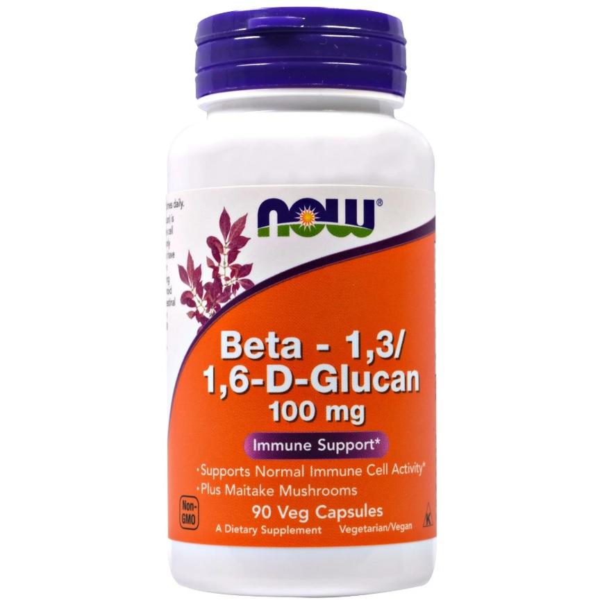 NOW Beta 1,3/1,6- D- Glucan 100mg 90caps