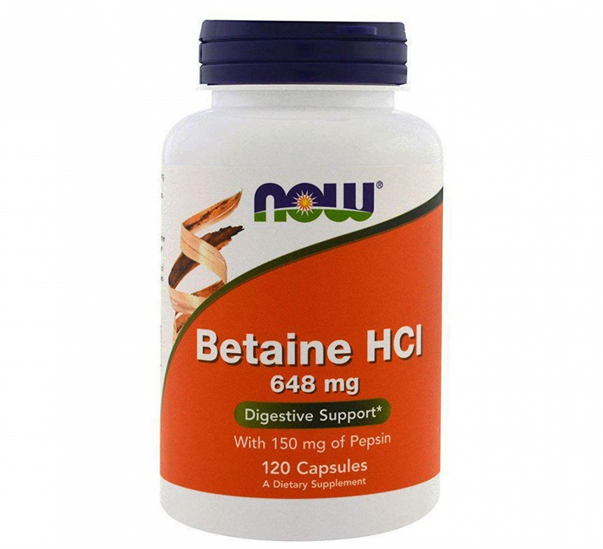 NOW Betaine Hcl 648mg 120caps