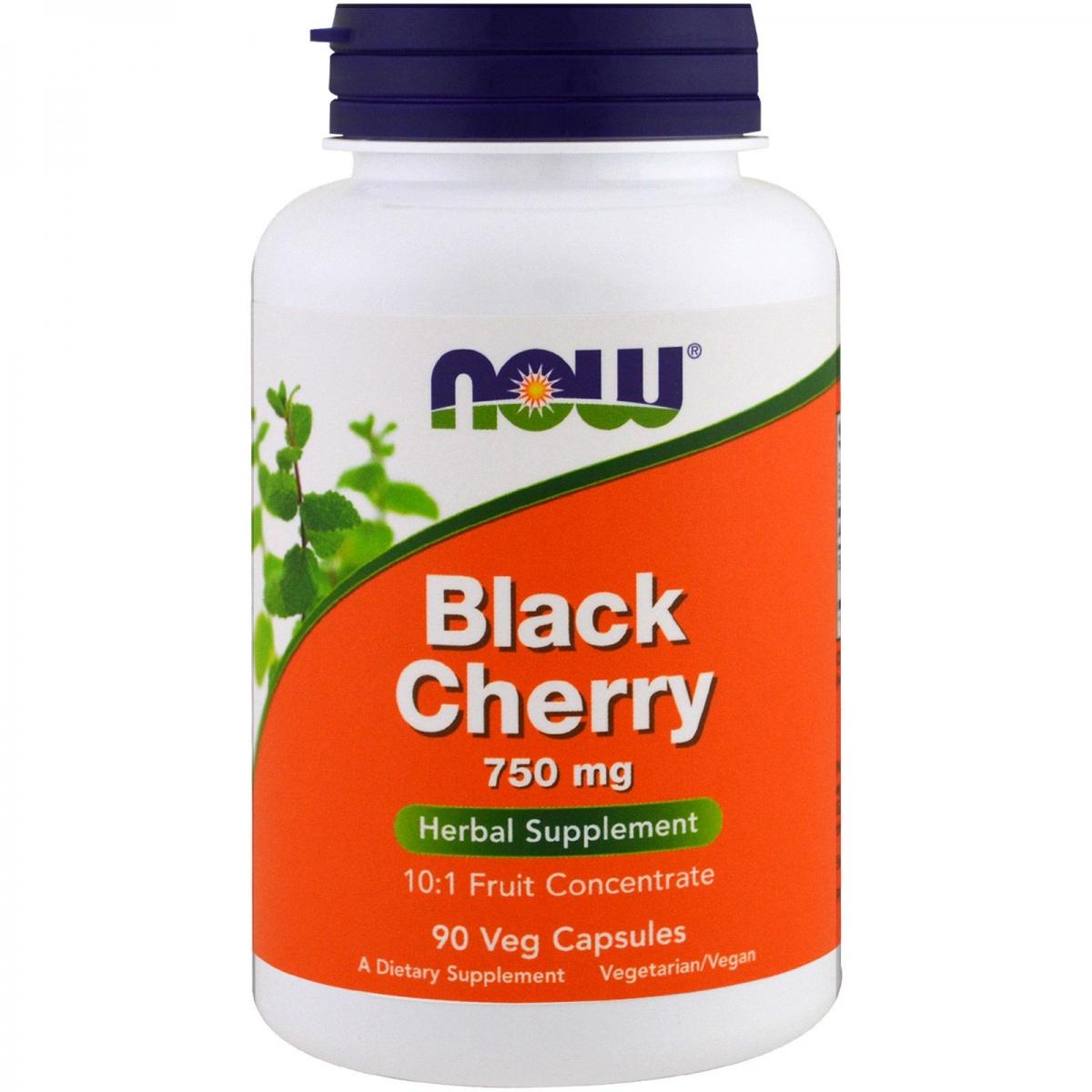 NOW Black Cherry Fruit 750mg 90caps