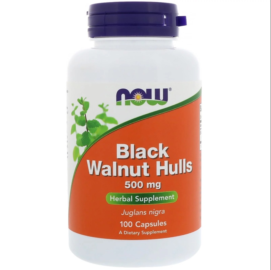 NOW Black Walnut Hulls 500 Mg 100caps