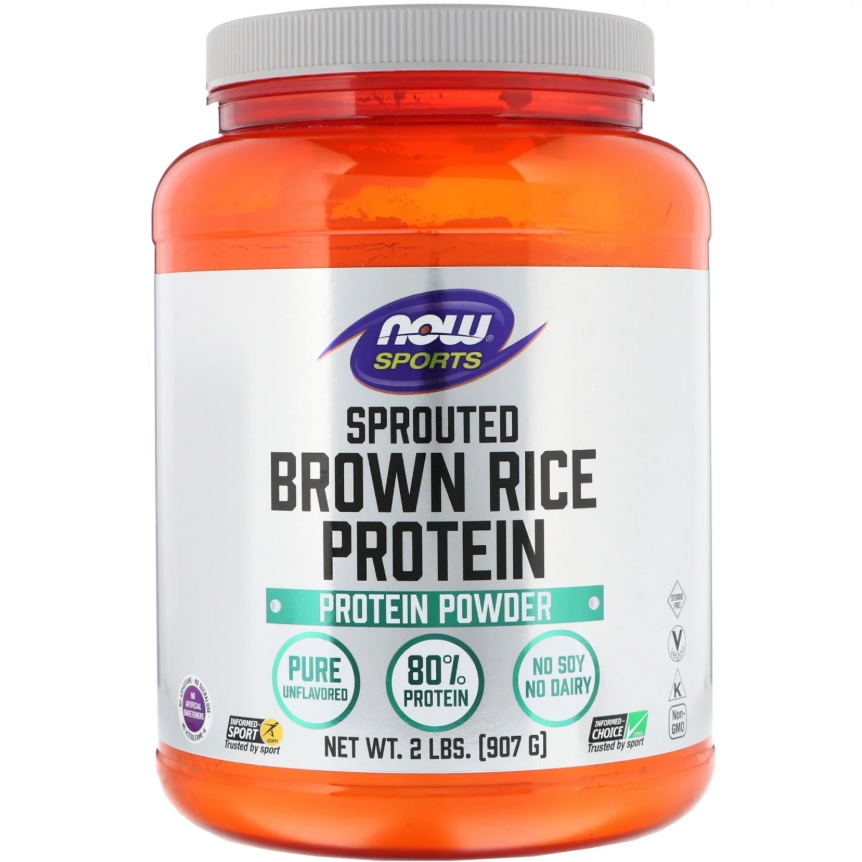 NOW Brown Rice Protein Sprouted 907g