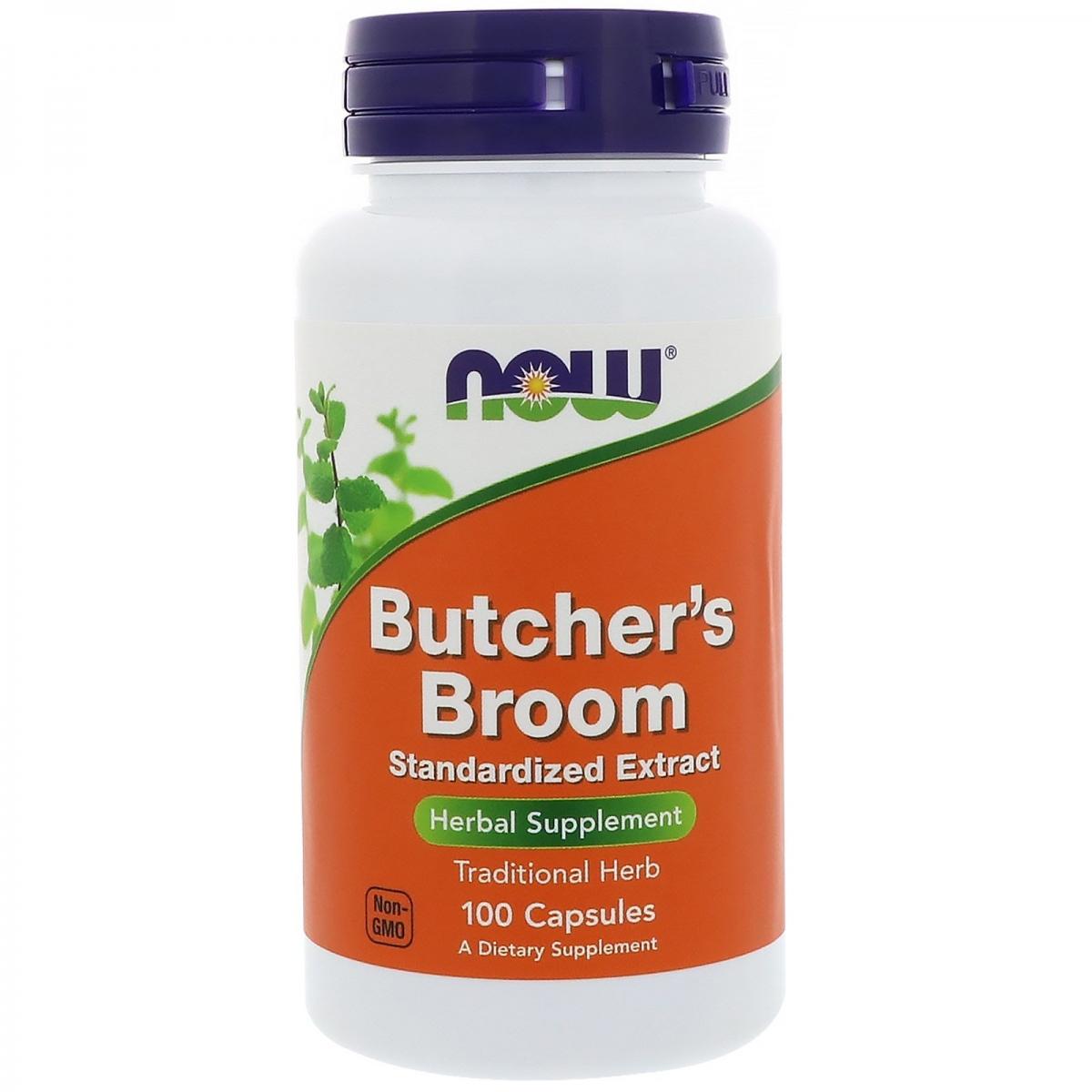 NOW Butcher′s Broom 100mg 100caps