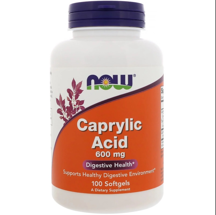 NOW Caprylic Acid 600mg 100caps