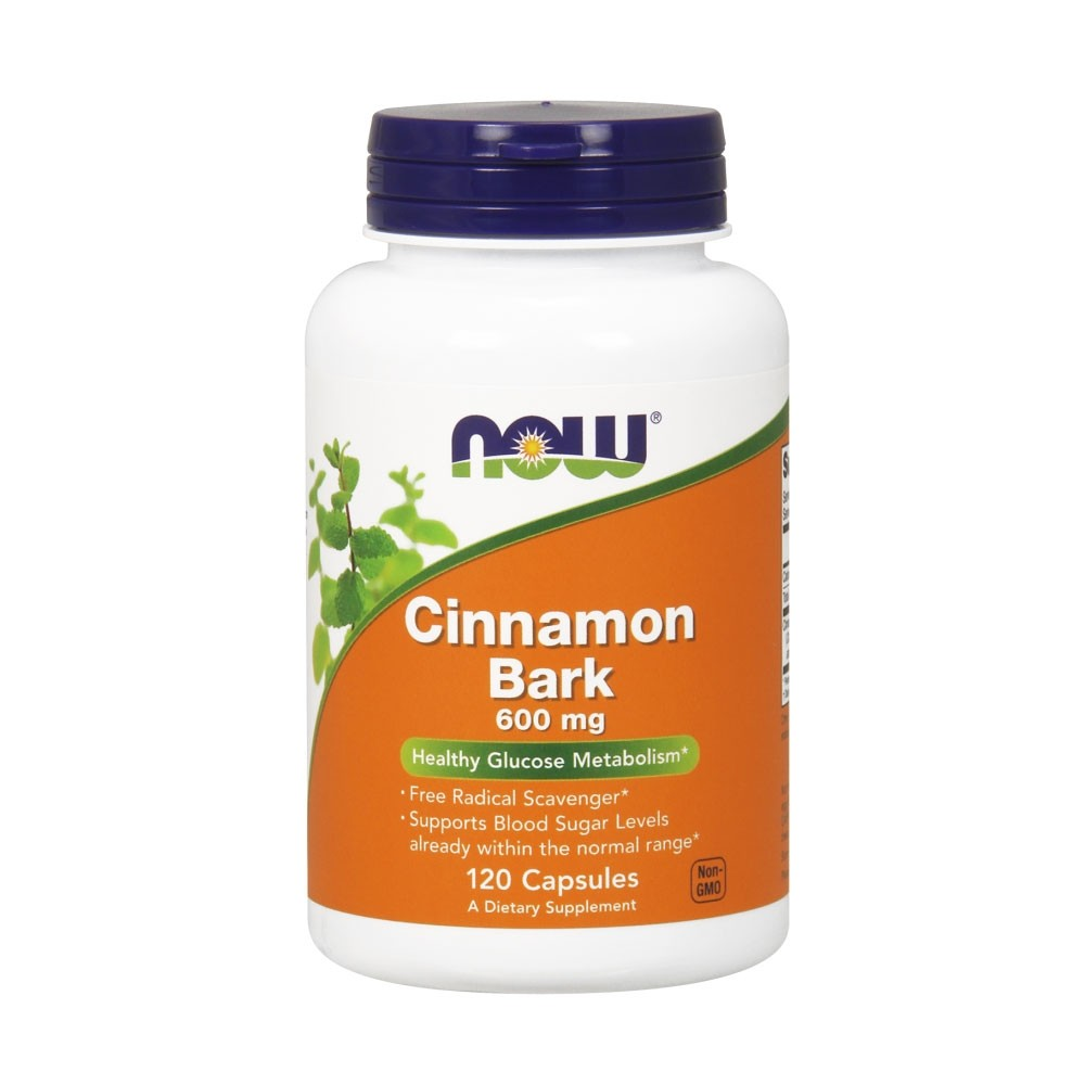 NOW Cinnamon Bark 600mg 120caps