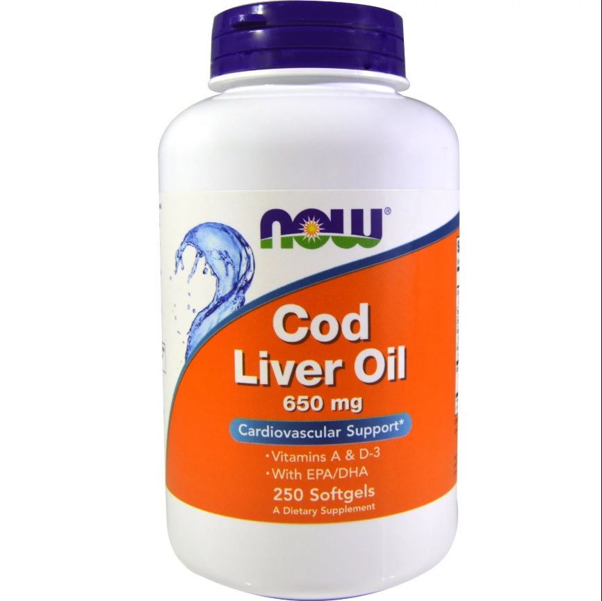 NOW Cod Liver Oil 650mg 250caps