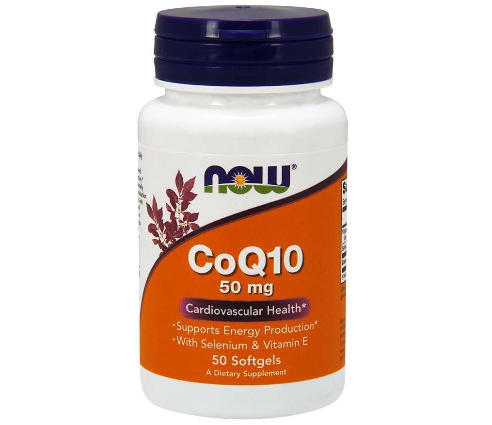 NOW Coq10 50mg + Vitamin E 50caps