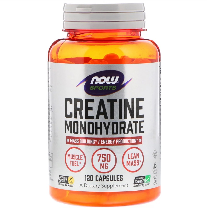 NOW Creatine Monohydrate 750mg 120caps