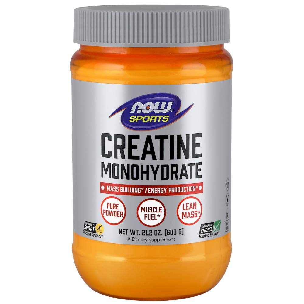 NOW Creatine Monohydrate Powder 600g