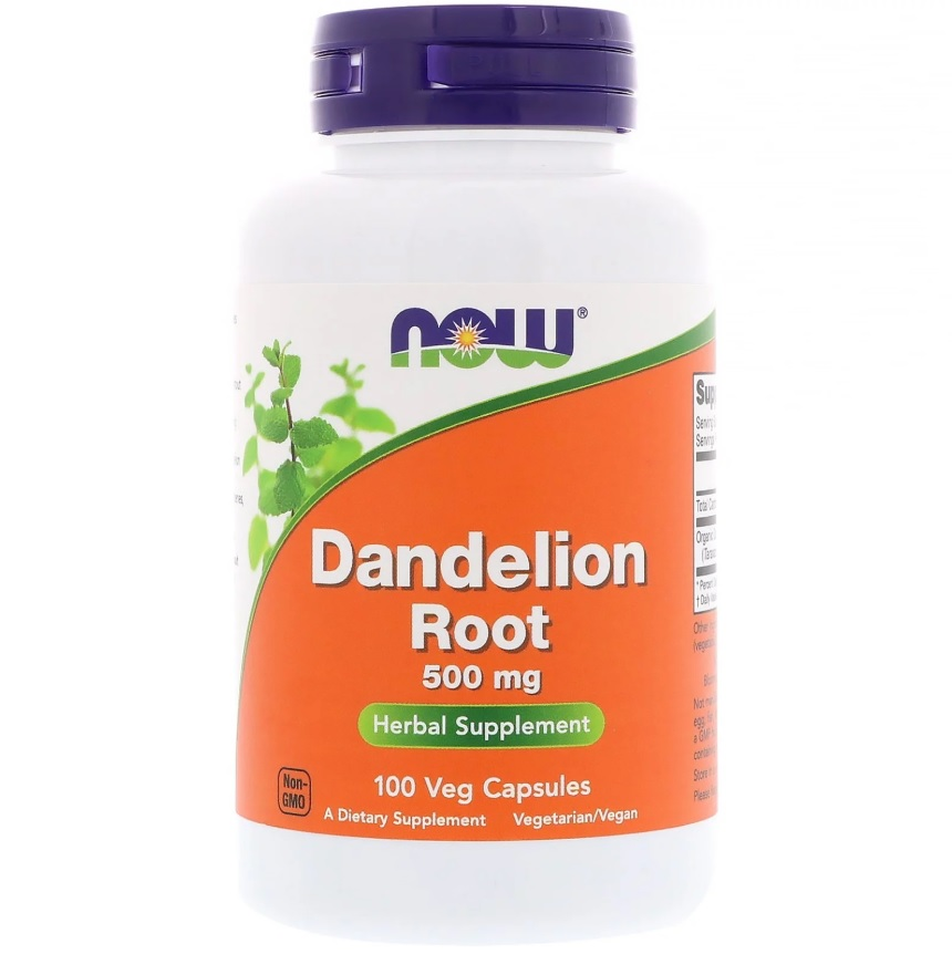 NOW Dandelion Root 500mg 100caps