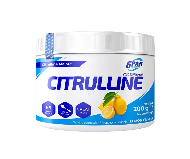 6PAK NUTRITION Citrulline 200g (Цитрулин малат)