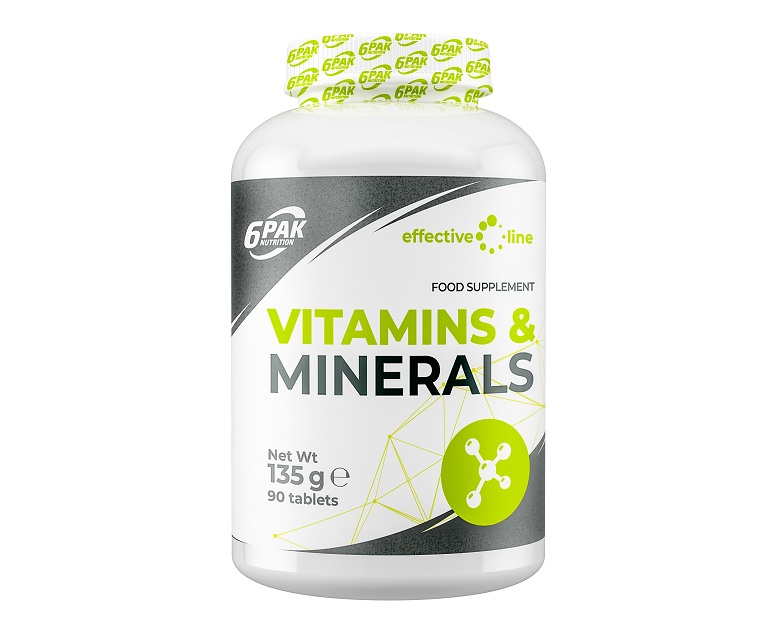 6PAK NUTRITION Effective Line Vitamins & Minerals 90tabs (Витамини и минерали)