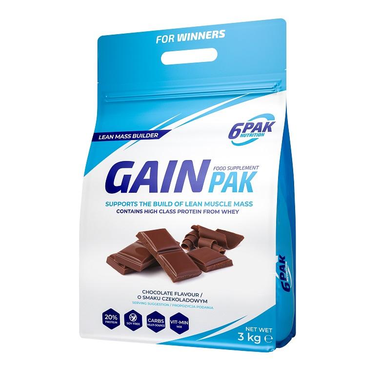 6PAK NUTRITION Gain Pak 3kg (Гейнър/Въглехидрати)