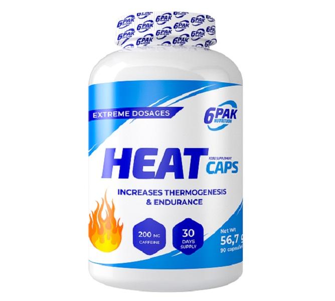 6PAK NUTRITION Heat Caps 90caps (Изгаряне на мазнини и отслабване)