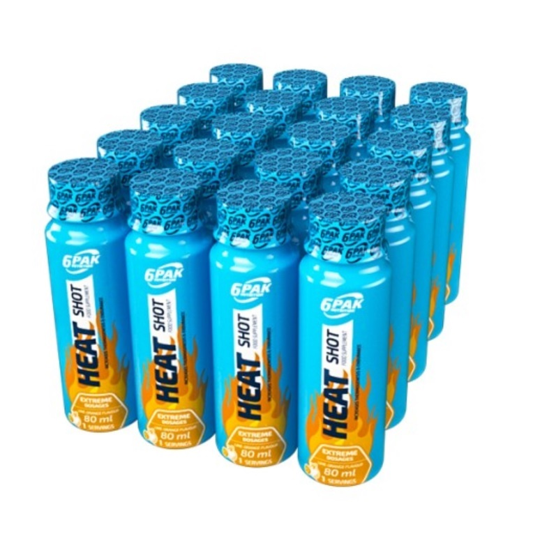 6PAK NUTRITION Heat Shot 24x80ml