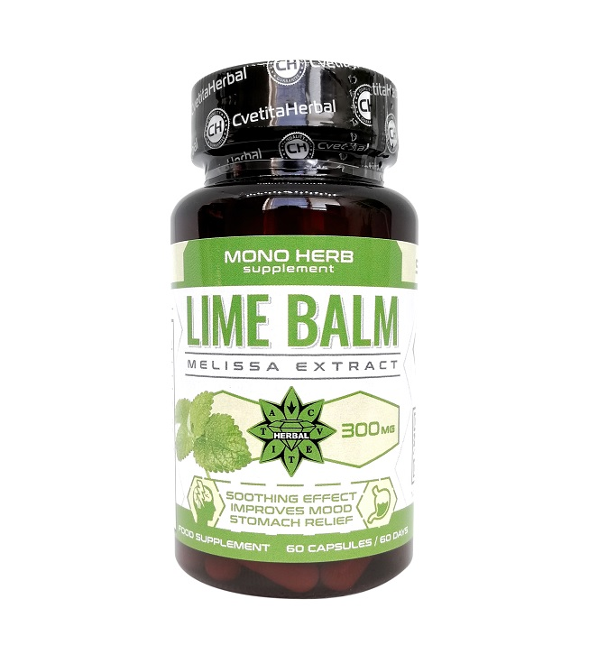 Cvetita Herbal Lime Balm 300mg 60caps