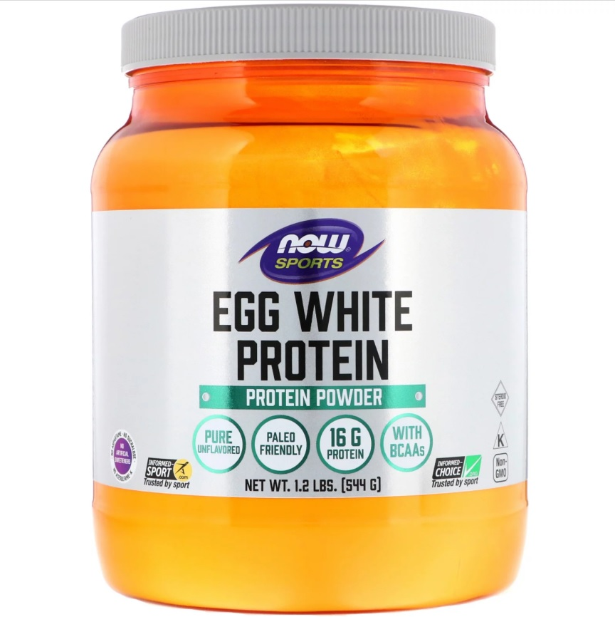 NOW Egg White Protein 544g