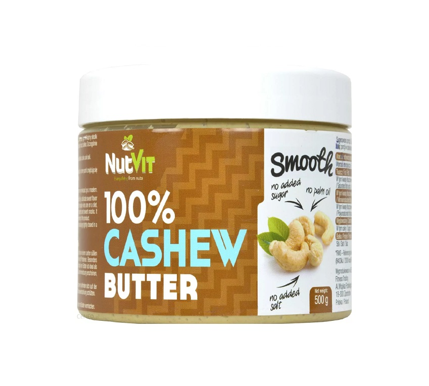 OstroVit 100% Cashew Butter Smooth 500g