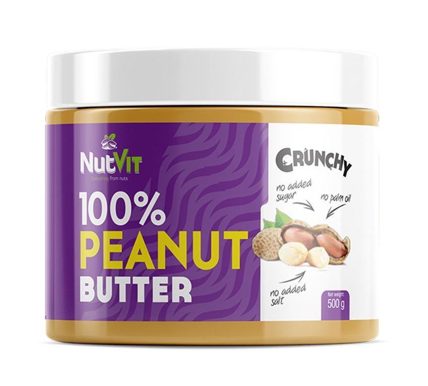 OstroVit 100% Peanut Butter Crunchy 500g