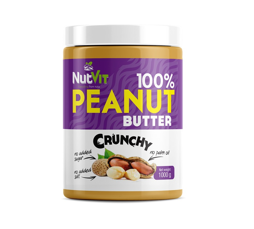 OstroVit 100% Peanut Butter Crunchy 1000g
