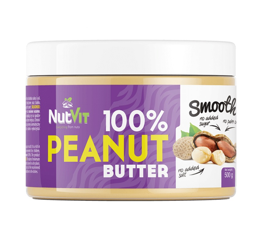 OstroVit 100% Peanut Butter Smooth 500g