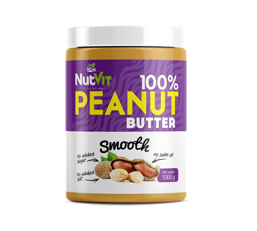 OstroVit 100% Peanut Butter Smooth 1000g