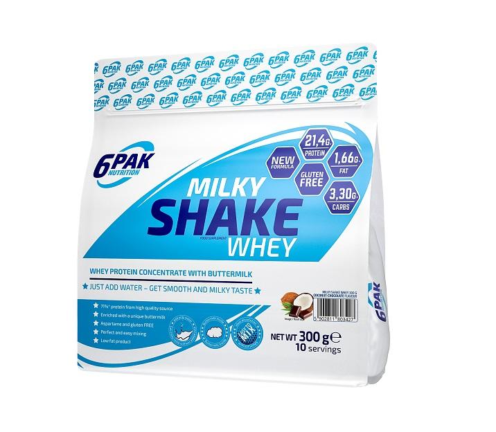 6PAK NUTRITION Milky Shake Whey 300g (Суроватъчен протеин концентрат)