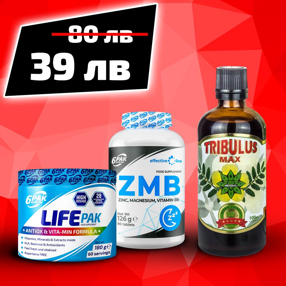 6PAK NUTRITION Life Pak + Zmb + Tribulus Max
