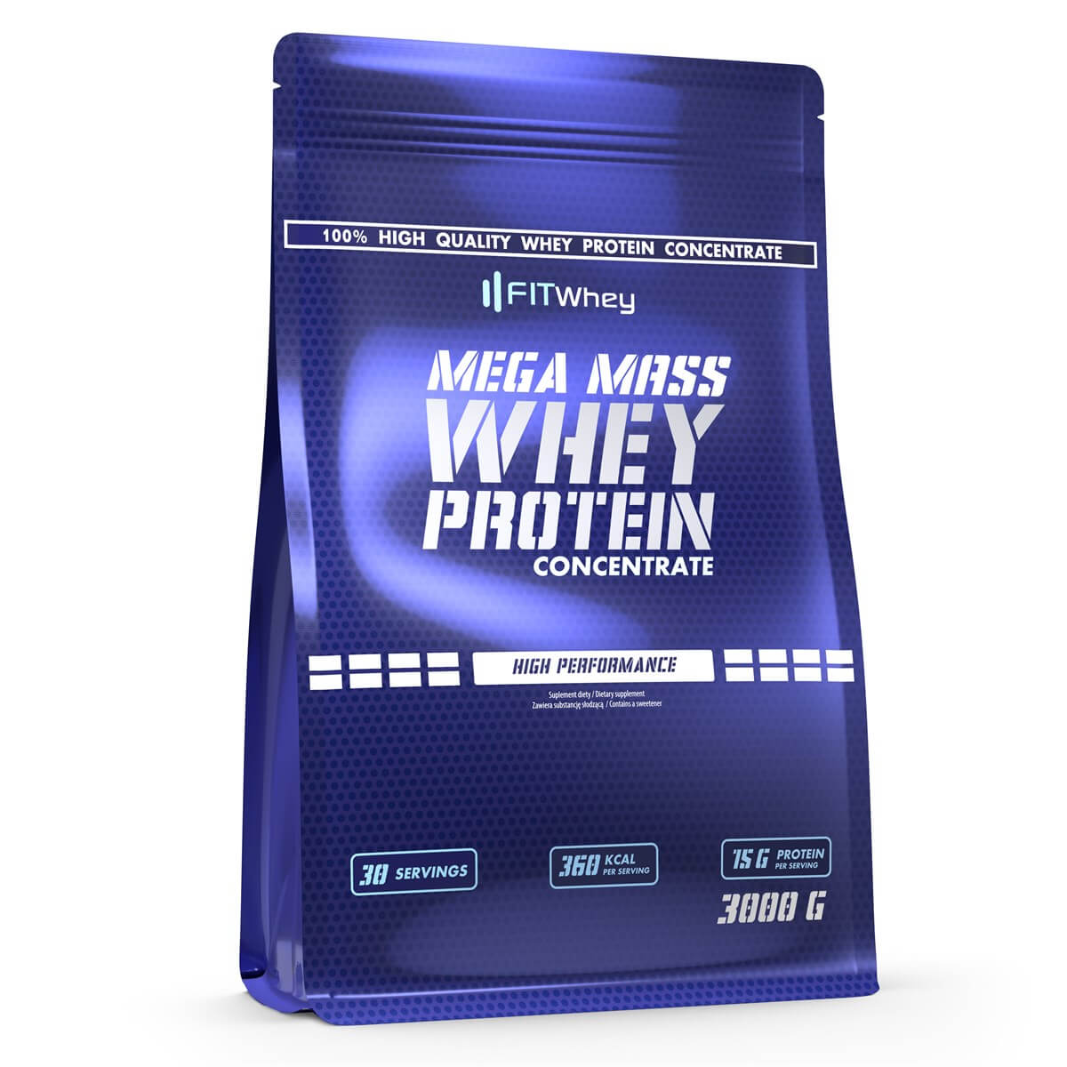 FITWhey Mega Mass Whey Protein Concentrate 3kg (Гейнър/Въглехидрати)