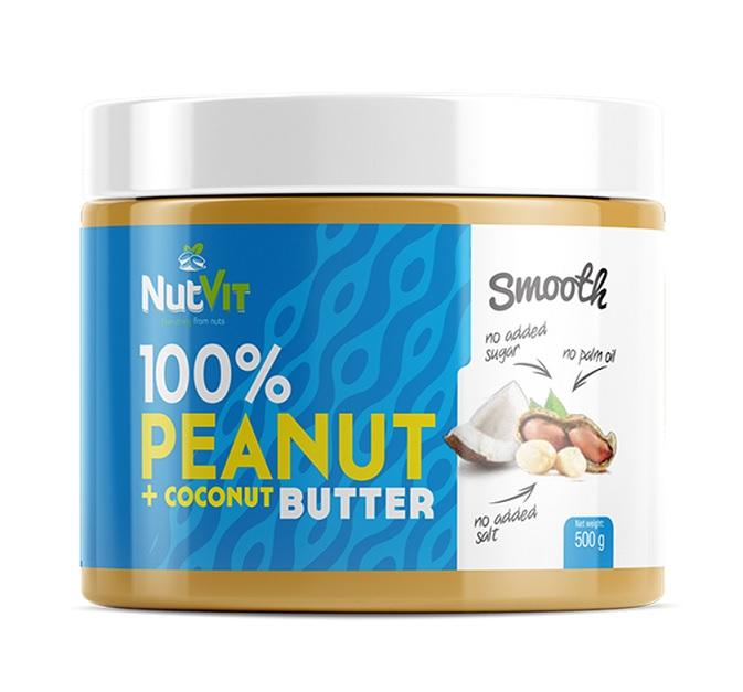 OstroVit 100% Peanut Butter + Coconut Butter 500g