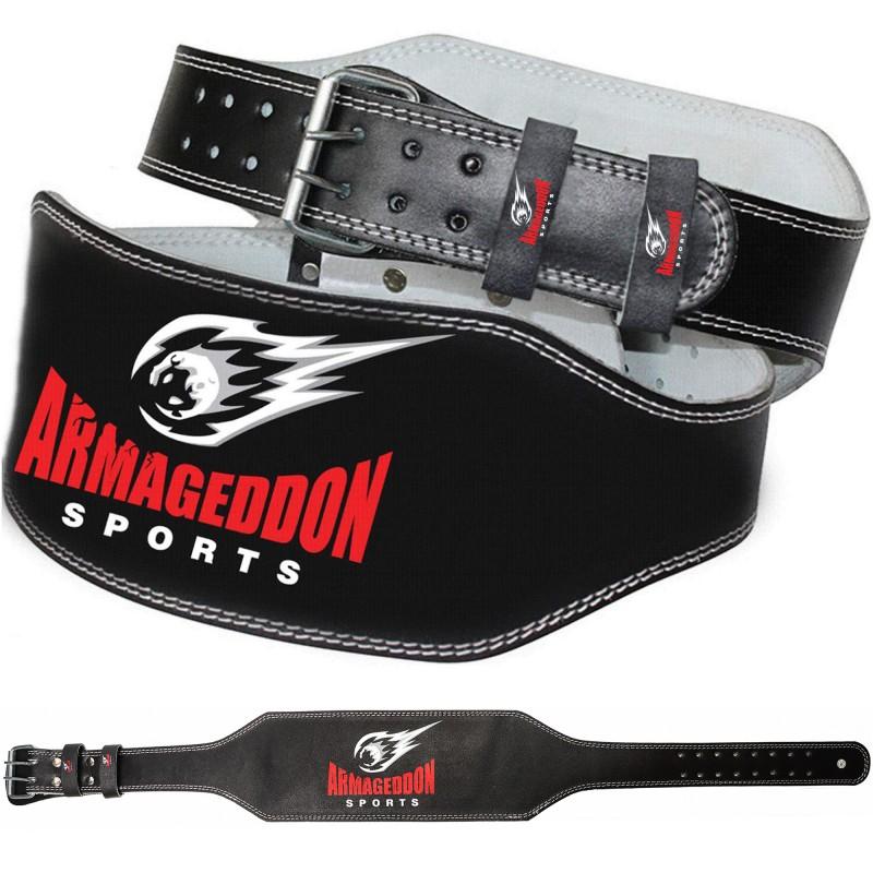Armageddon Sports Кожен фитнес колан 15 см