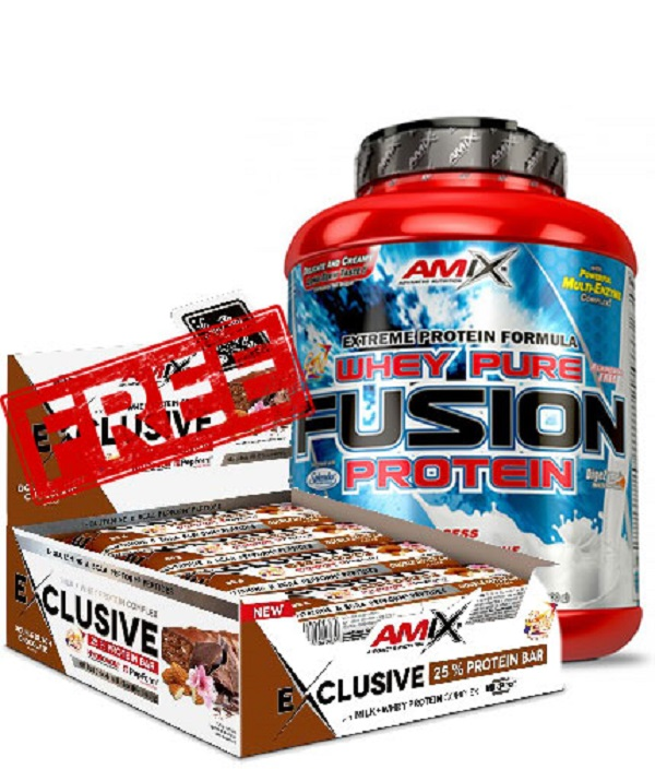 Whey Pure Fusion 2,3kg + Exclusive Protein Bar 12x85g