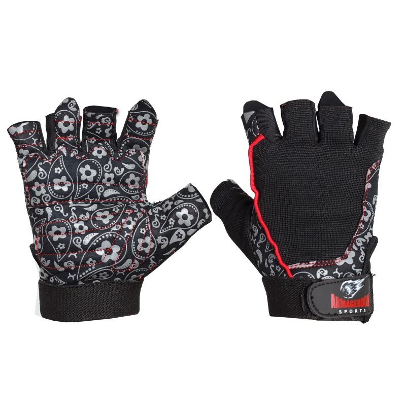 Armageddon Sports Дамски фитнес ръкавици Flower Black