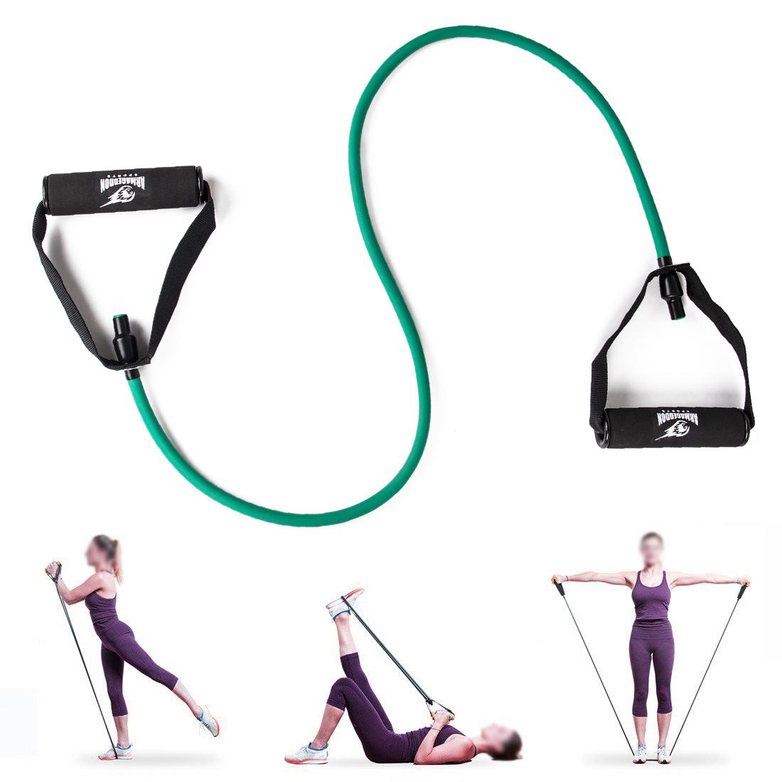 Armageddon Sports Фитнес ластик 15кг за тренировка с ръкохватки и аксесоар за врата
