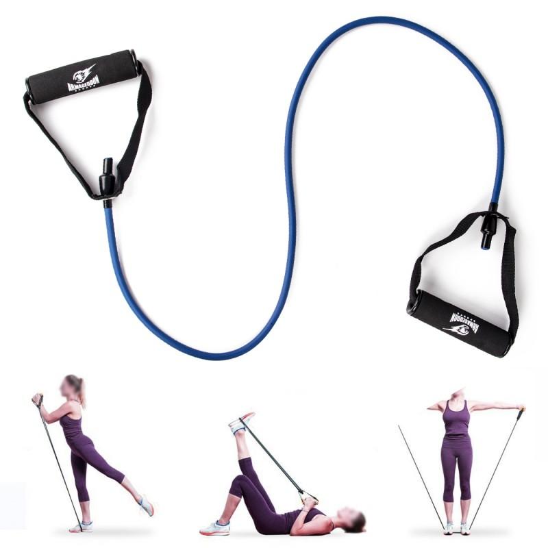 Armageddon Sports Фитнес ластик 10кг за тренировка с ръкохватки и аксесоар за врата