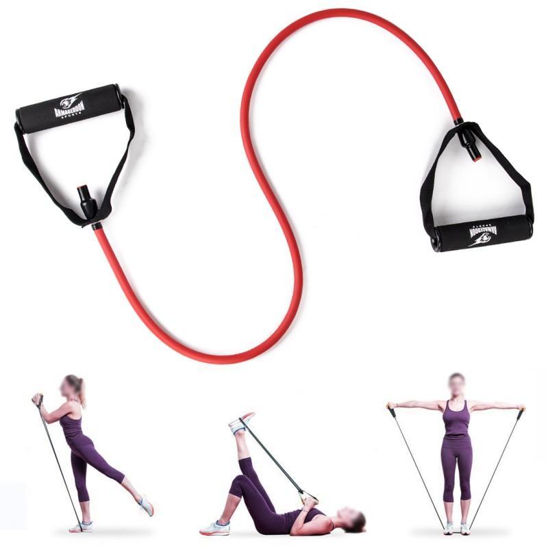 Armageddon Sports Фитнес ластик 25кг за тренировка с ръкохватки и аксесоар за врата