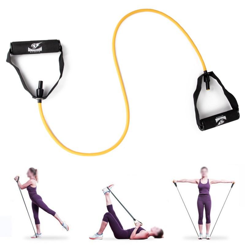 Armageddon Sports Фитнес ластик 5кг за тренировка с ръкохватки и аксесоар за врата