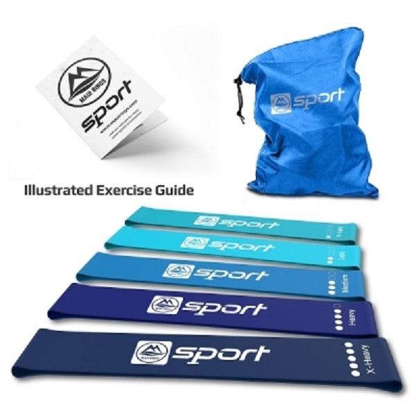 Комплект ластични ленти за упражнения - сини