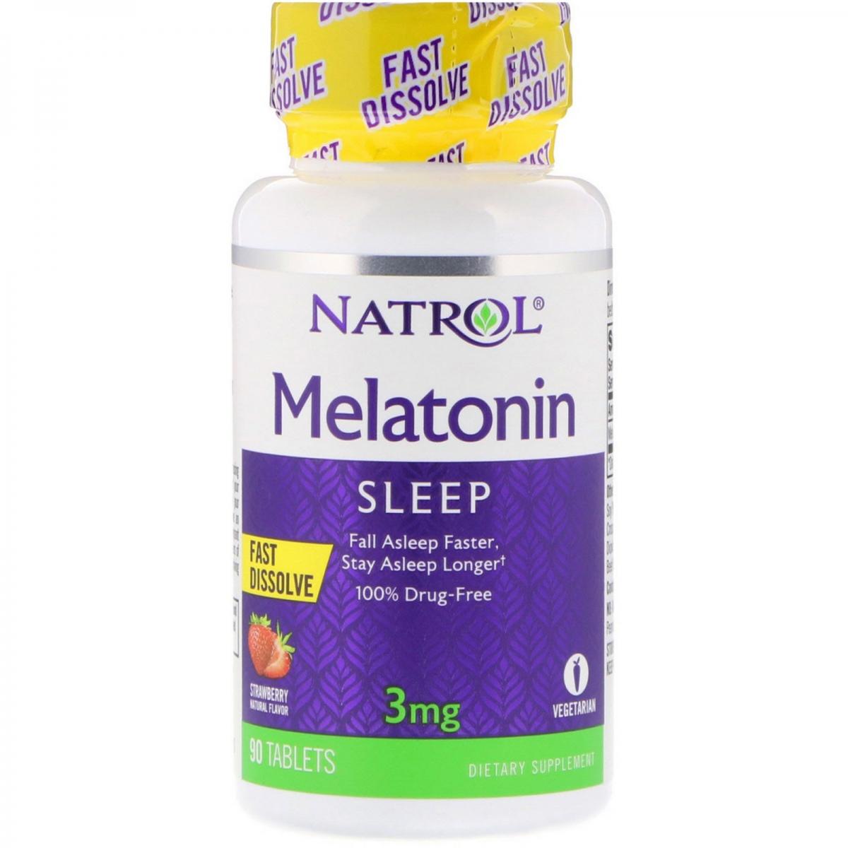 Natrol Melatonin Fast Dissolve 3 Mg