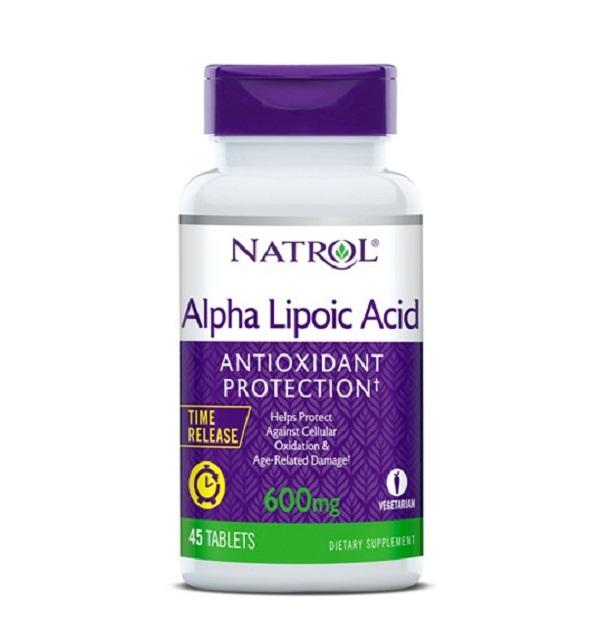 Natrol Alpha Lipoic Acid Time Release 600 Mg