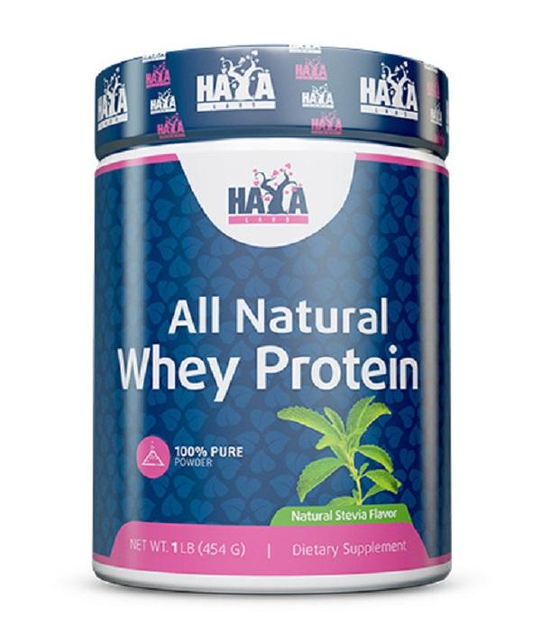 HAYA Labs 100% Pure All Natural Whey Protein / Stevia /Неовкусен, натурален суроватъчен протеин/