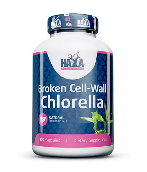 HAYA Labs Broken Cell Wall Chlorella 500mg 100caps