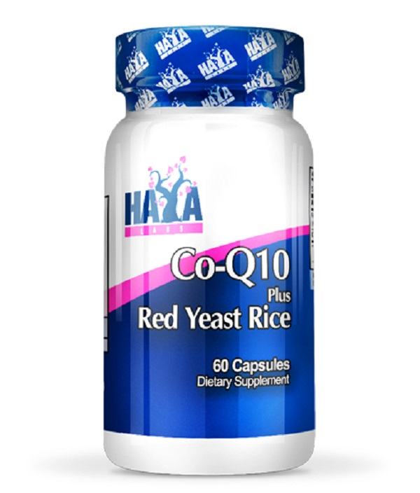 HAYA Labs Co-q10 60mg & Red Yeast Rice 500mg 60caps