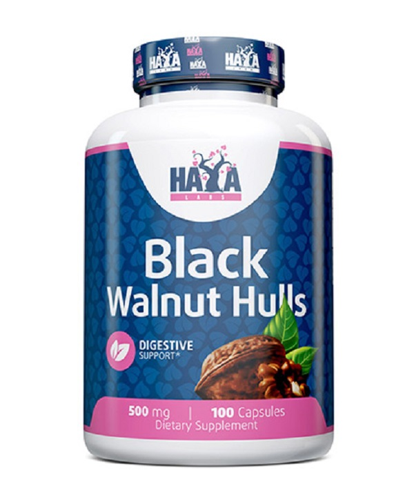HAYA Labs Black Walnut Hulls 500mg 100caps