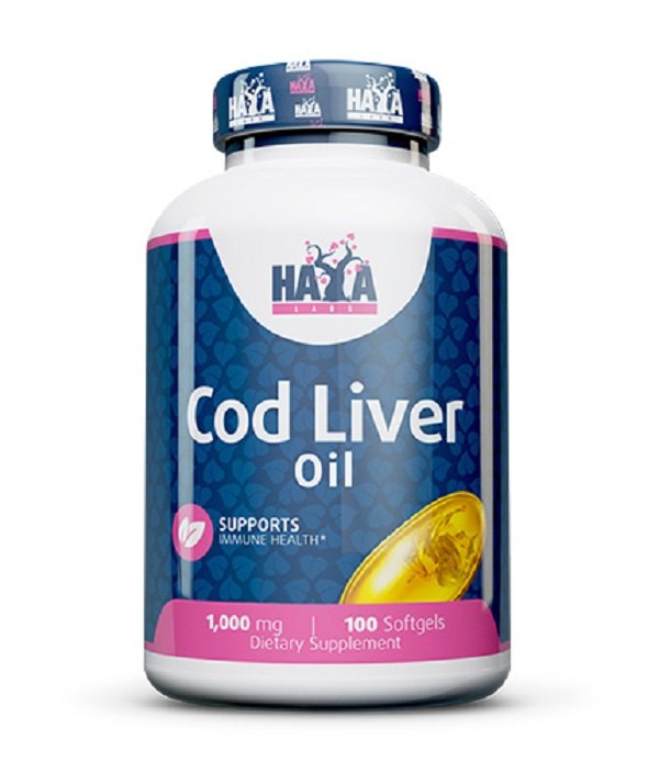 HAYA Labs Cod Liver Oil 1000mg 100caps