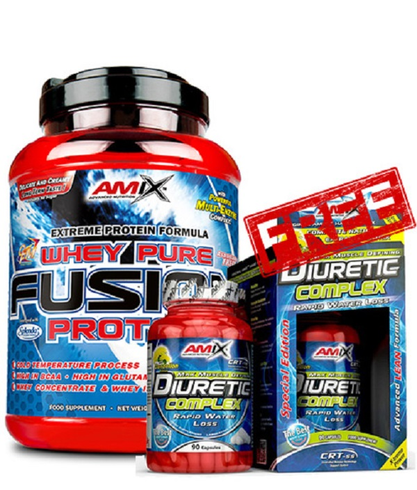 AMIX Whey Pure Fusion 1kg + Diuretic Complex Free