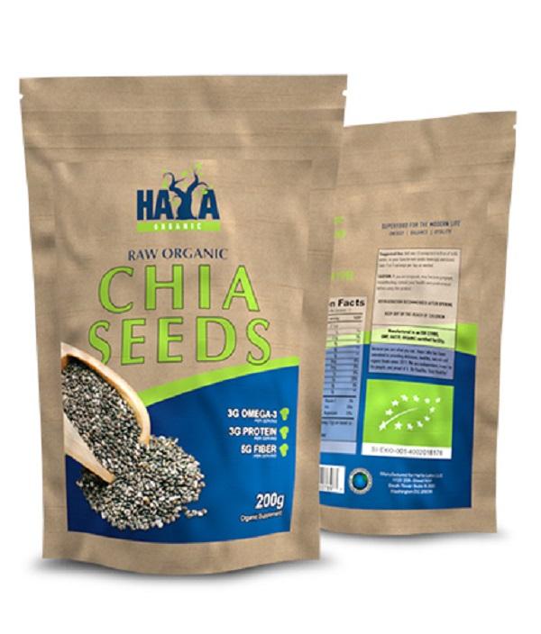 HAYA Labs Organic Chia Seeds 200g