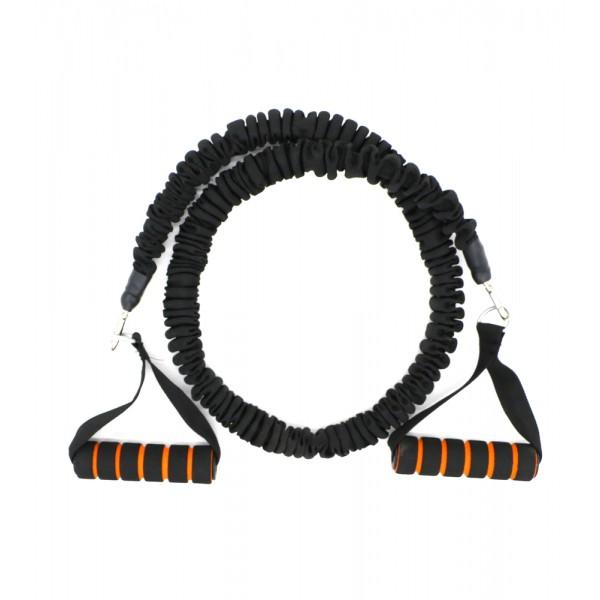 Active Gym Тренировъчен ластик в ръкав със съпротивление / Черен / 20 кг