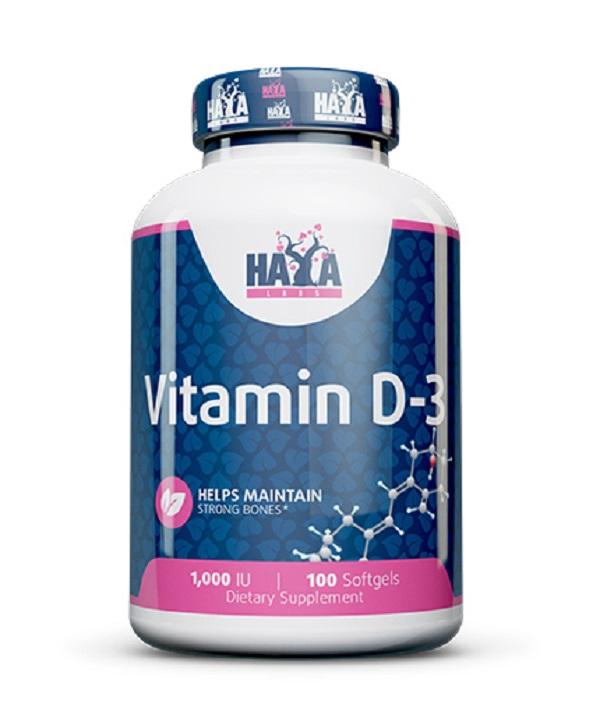 HAYA Labs Vitamin D3 1000 Iu 100caps