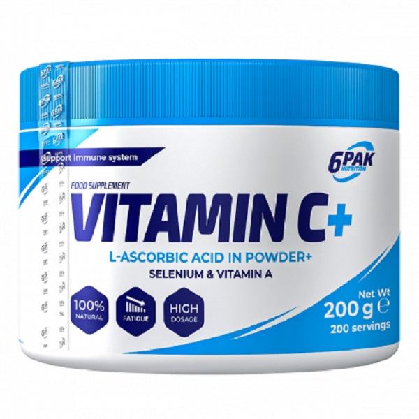 6PAK NUTRITION Vitamin C + Selenium + Vitamin A 200g (Витамин Ц, Селен, Витамин А)